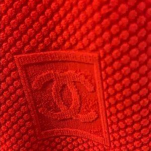 Authentic Chanel cruise runway zipup shirt jacket.